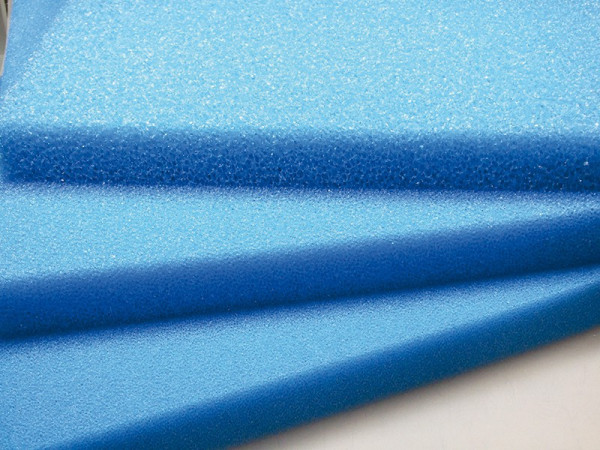 Blaue-Filterschaummatte 50 x 50 x 3cm